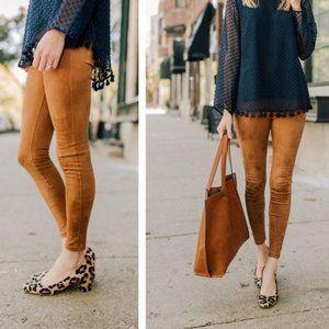 ANTHROPOLOGIE  Faux Suede Leggings Pants 30